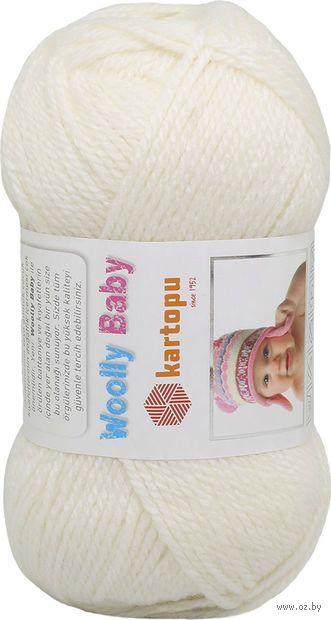 """Пряжа """"KARTOPU. Woolly Baby №K010"""" (50 г; 148 м; белый) — фото, картинка"""