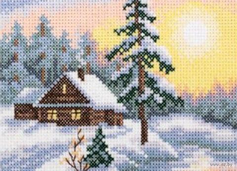 """Вышивка крестом """"Морозное утро"""" (110x75 мм) — фото, картинка"""