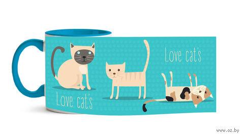 """Кружка """"Love cat's"""" (арт. 367)"""