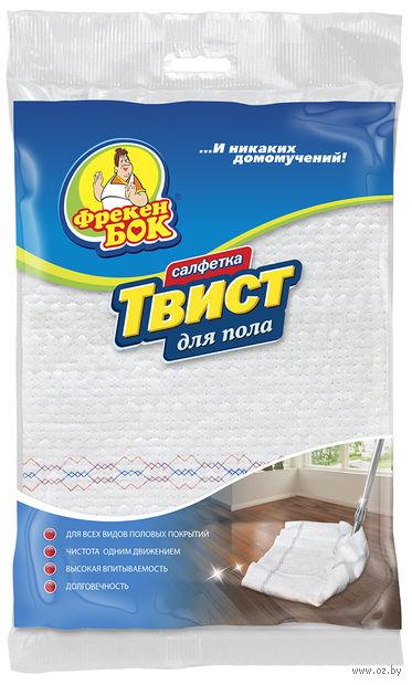 """Салфетка для уборки пола """"Твист"""" (700х500 мм) — фото, картинка"""