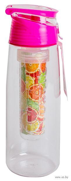 Бутылка для воды (750 мл; розовая) — фото, картинка