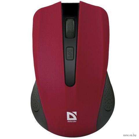 Мышь беспроводная Defender Accura MM-935 (красная) — фото, картинка