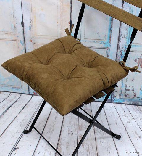 """Подушка на стул """"Velours. Pecan"""" (42х42 см) — фото, картинка"""
