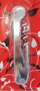 Штопор металлический с открывалкой (115 мм)