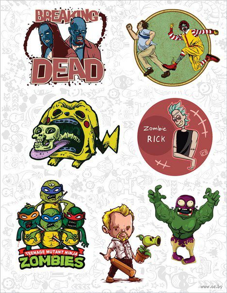 """Набор виниловых наклеек №82 """"Zombie"""""""