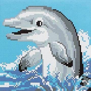 """Алмазная вышивка-мозаика """"Дельфин"""""""