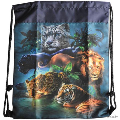 """Рюкзак-мешок """"Дикие кошки"""" (арт. М10_4121) — фото, картинка"""