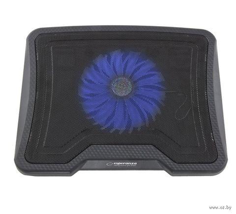 Подставка для ноутбука Esperanza EA143 Leste (черная) — фото, картинка