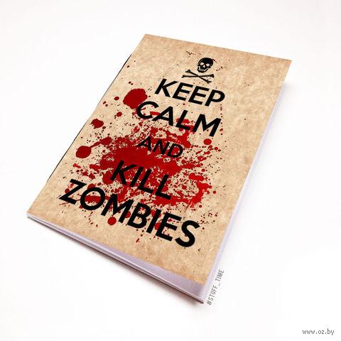 """Блокнот крафт """"Kill Zombies"""" А6 (134)"""