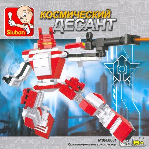 """Конструктор """"Робот трансформер. Красное копье"""" (111 деталей) — фото, картинка"""