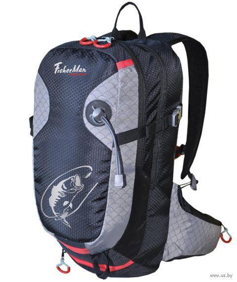 "Рюкзак для рыбалки ""Дартер Pro"" (20 л; чёрно-серый) — фото, картинка"