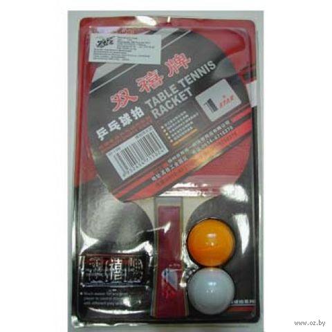 Ракетка для настольного тенниса (+2 шарика; арт. 1ZV) — фото, картинка