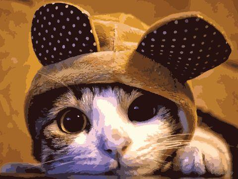 "Картина по номерам ""Задумчивый кот"" (400х500 мм) — фото, картинка"