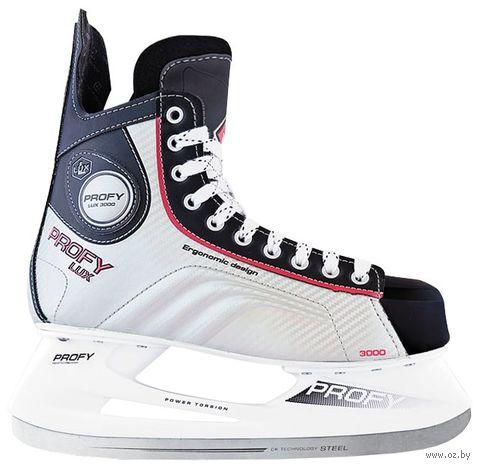 """Коньки хоккейные """"Profy Lux 3000"""" (р. 47; красные) — фото, картинка"""