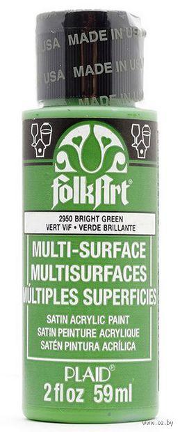 """Краска акриловая """"FolkArt Multi-Surface"""" (светло-зеленый, 59 мл; арт. PLD-02950)"""