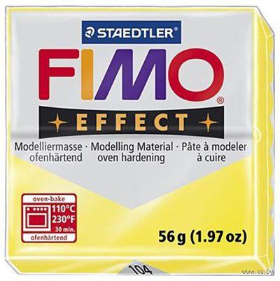 """Глина полимерная """"FIMO Effect"""" (полупрозрачный желтый; 56 г)"""