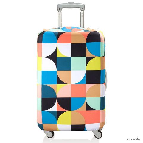 """Чехол для чемодана """"Circles"""" (средний)"""