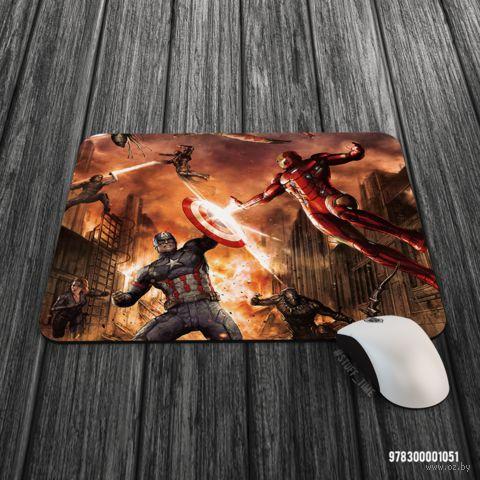 """Коврик для мыши большой """"Первый мститель"""" (арт. 1051) — фото, картинка"""