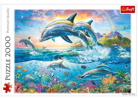 """Пазл """"Счастливые дельфины"""" (2000 элементов) — фото, картинка"""