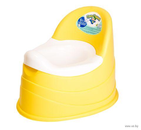Горшок музыкальный детский (390x310x305 мм; желтый) — фото, картинка