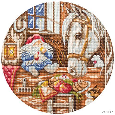 """Алмазная вышивка-мозаика """"Домовой - покровитель домашних животных"""" (345х345 мм) — фото, картинка"""