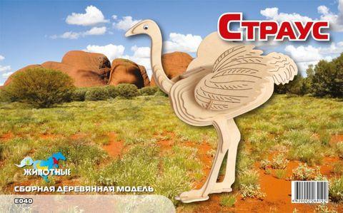 """Сборная деревянная модель """"Страус"""""""