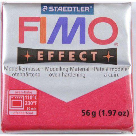 """Глина полимерная """"FIMO. Effect Metallic"""" (рубин; 56 г)"""