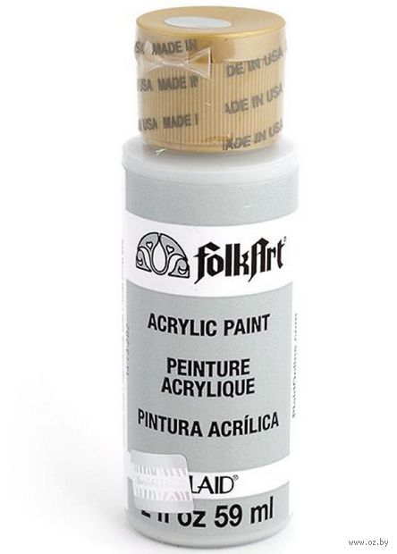 "Краска акриловая ""FolkArt. Acrylic Paint"" (серый голубь; 59 мл; арт. PLD-00708) — фото, картинка"