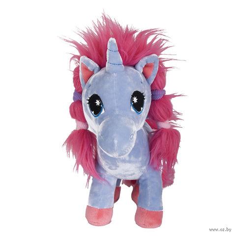 """Мягкая игрушка """"Единорог с розовой гривой"""" (25 см)"""
