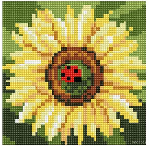 """Алмазная вышивка-мозаика """"Цветок солнца"""" (200x200 мм) — фото, картинка"""