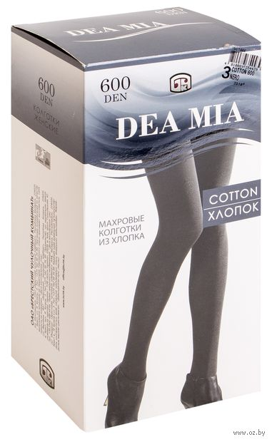 """Колготки женские теплые """"Dea Mia. Cotton 600"""" — фото, картинка"""