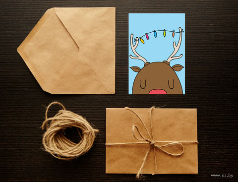 "Открытка ""Merry Christmas. Happy New Year"" (арт. 28) — фото, картинка"