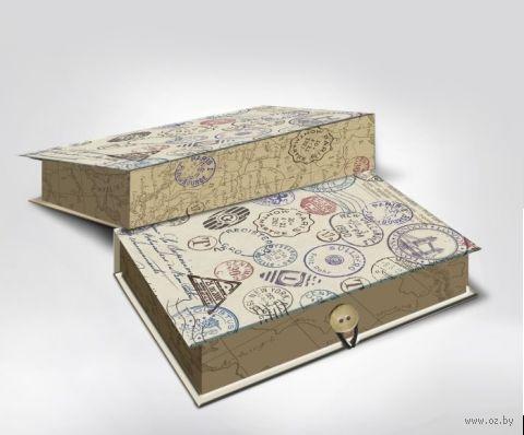 """Подарочная коробка """"Штамп"""" S (18х12х5 см; арт. 42366) — фото, картинка"""