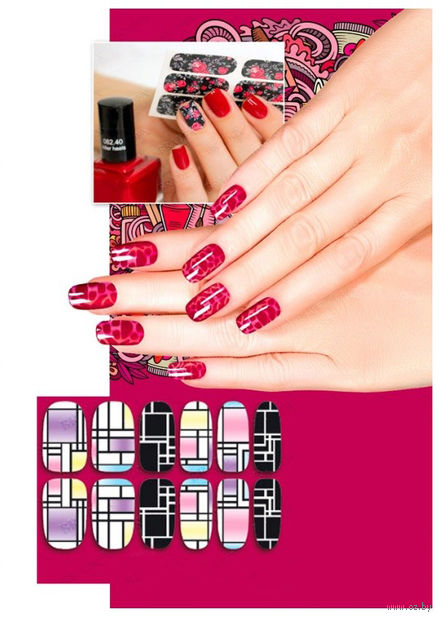"Наклейки для дизайна ногтей ""Авангард"" (6 шт.) — фото, картинка"