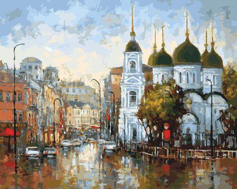 "Картина по номерам ""Вид на Сухаревскую площадь"" (400х500 мм) — фото, картинка"