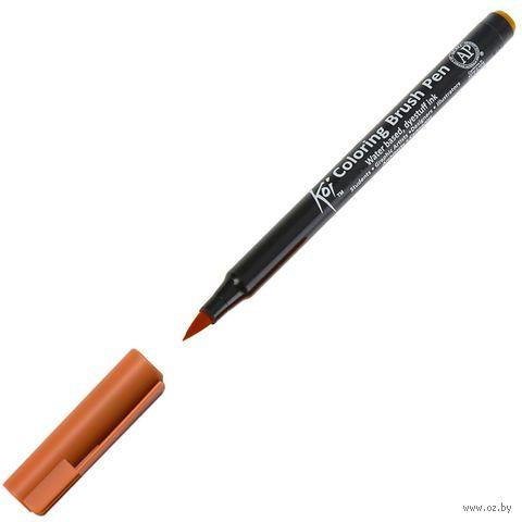 "Брашпен ""Koi Coloring Brush Pen"" (коричневый светлый) — фото, картинка"