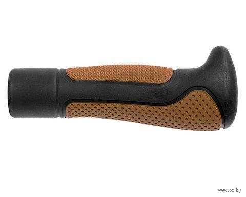 """Грипсы для велосипеда """"ELA L-138"""" (чёрно-коричневые) — фото, картинка"""