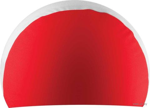 Шапочка для плавания (красно-белая; арт. NPC-41) — фото, картинка