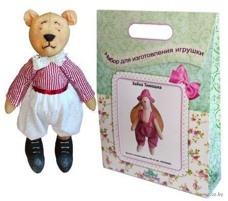 """Подарочный набор для шитья из ткани """"Кукла. Мишка Папа"""""""