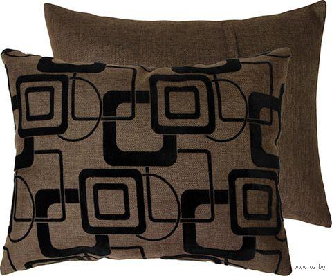 """Подушка """"Геометрия"""" (37x47 см; коричневая) — фото, картинка"""