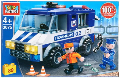 """Конструктор """"Полиция. Побег из полицейской машины"""" (89 деталей) — фото, картинка"""