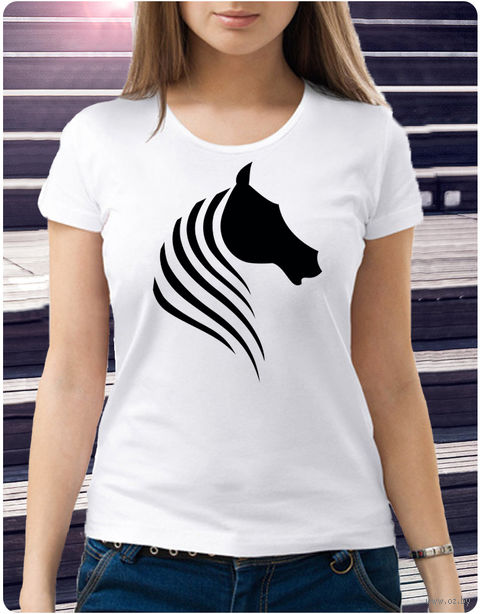 "Футболка женская ""Лошадь"" (размер 46; арт. 52) — фото, картинка"