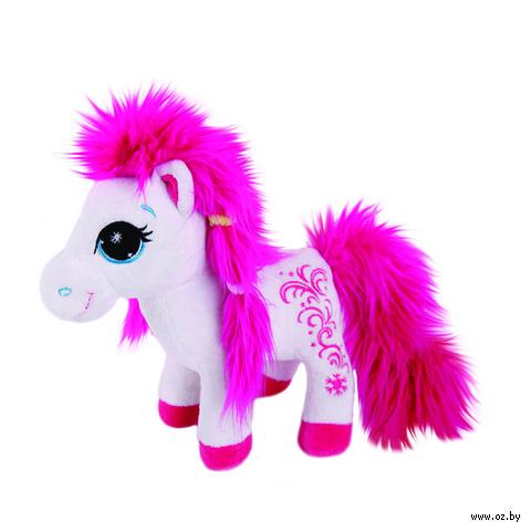 """Мягкая игрушка """"Пони с розовой гривой"""" (25 см)"""