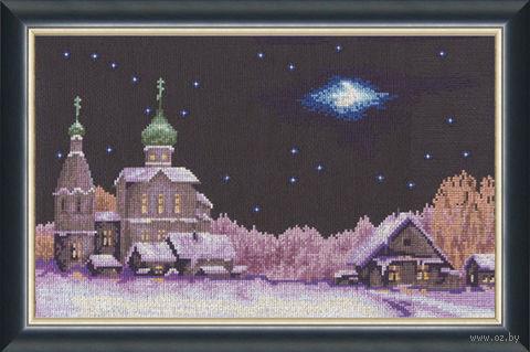 """Вышивка крестом """"Новогодняя ночь"""" (215x360 мм) — фото, картинка"""
