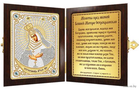 "Вышивка бисером ""Богородица Остробрамская"" (70х100 мм) — фото, картинка"