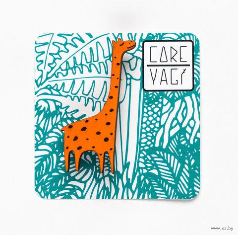 "Значок деревянный ""Жираф"" — фото, картинка"