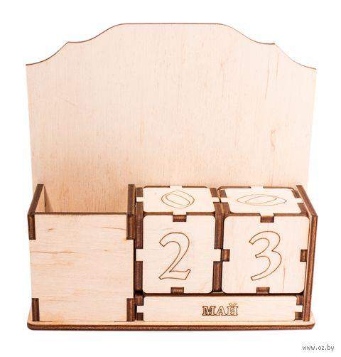 """Заготовка деревянная """"Вечный календарь с подставкой"""" (160х60х150 мм) — фото, картинка"""