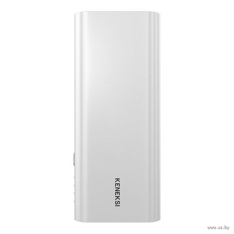 Внешний аккумулятор Keneksi 10000 mAh (серебристый) — фото, картинка