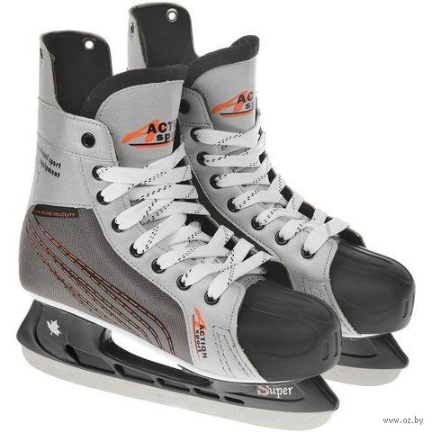 Коньки хоккейные (р. 39; арт. PW-216N) — фото, картинка