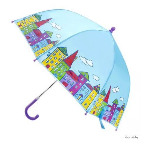 """Зонт-трость """"Домики"""" — фото, картинка"""